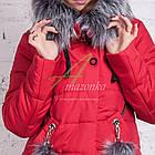 Молодежное женское пальто сезона зима 2017-2018 - (модель кт-202), фото 4