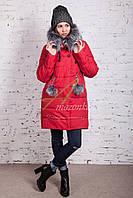Молодежное женское пальто сезона зима 2017-2018 - (модель кт-202)