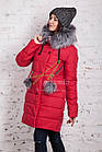 Молодежное женское пальто сезона зима 2017-2018 - (модель кт-202), фото 2