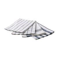 ЭЛЛИ Полотенце кухонное, белый, синий, набор 4 шт., 50x65 см