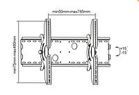 Кронштейн Brateck PLB-2 23`-63` max 75kg.