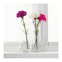 СМИККА Цветок искусственный, гвоздика, темно-розовый, 30 см