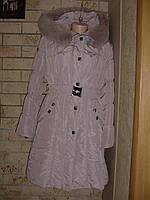 Зимнее пальто пуховик с натуральным мехом песца. 50-52 размера