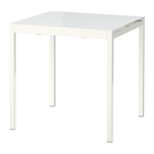 ГЛИВАРП Раздвижной стол, белый, 75/115x70 см