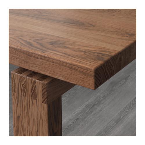 MÖRBYLÅNGA Стол, дубовый шпон, коричневый, 140x85 см