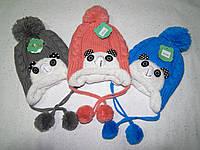 Модная зимняя шапка для детей года 3-6 лет