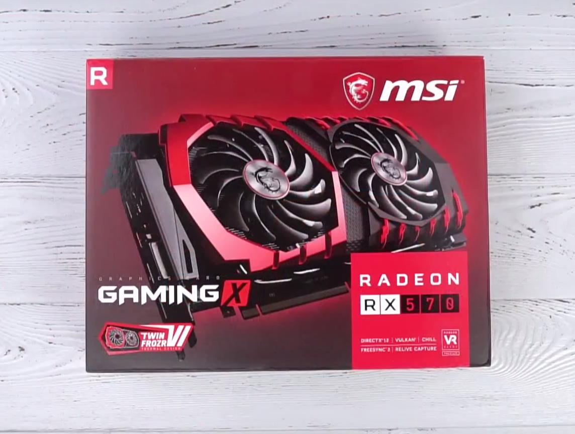 Видеокарта MSI Radeon RX 570 GAMING X 4G