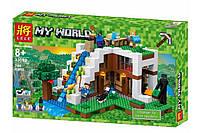 "Конструктор Lele 33052 ""База на водопаде"" (аналог Lego Майнкрафт, Minecraft 21134), 744 дет"