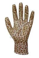"""Перчатки женские с полиуретановым покрытием """"жирафа"""""""