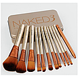 Кисті косметичні Naked 3 (12 предметів) (репліка), фото 4