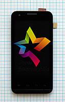 Дисплей (Модуль) для мобильного телефона Prestigio 4040, черный, с тачскрином, с рамой