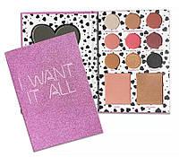 Палетка для макияжа KYLIE I WANT IT ALL: тени+румяна+бронзер