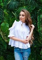 Летняя белая рубашка свободного покроя