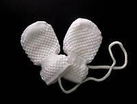 Варежки-рукавички для младенцев белые