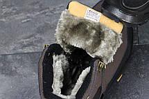 Зимние кроссовки Ecco Yak ,нубук, на меху,коричневые, фото 3
