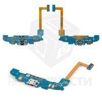 Шлейф для мобильного телефона Samsung I8262 Galaxy Core, коннектора зарядки, с компонентами, с микрофоном