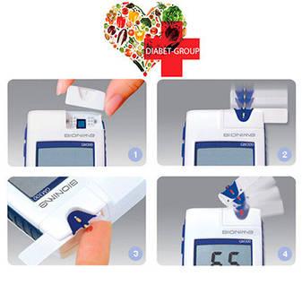 Глюкометр Bionime GM 300 + 50 тест-полосок, фото 2