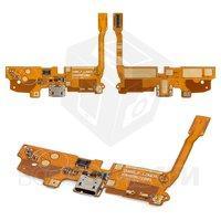Шлейф для мобильных телефонов LG D410 Optimus L90 Dual SIM, микрофона, коннектора зарядки, с компонентами
