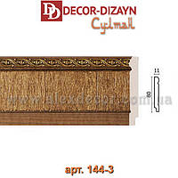 Плинтус 144-3 Decor-Dizayn 80x11x2400мм