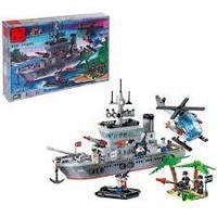 Конструктор BRICK 820 Военный корабль, 614 дет.