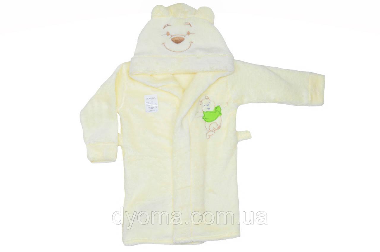 """Махровый детский халат с поясом """"Винни пух"""""""