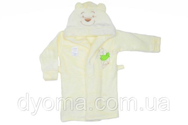 """Махровый детский халат с поясом """"Винни пух"""", фото 2"""