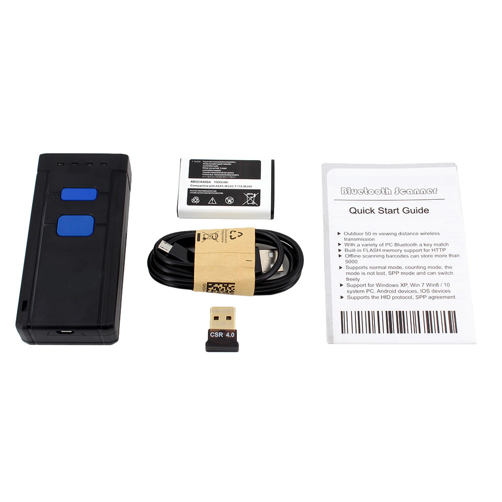 Беспроводной сканер штрих кодов Bluetooth и Wi-Fi Symcode MJ-2877