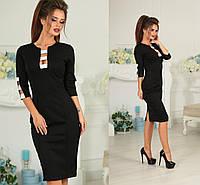 Женское приталенное удлиненное платье  с разрезом с дайвинга  4 цвета