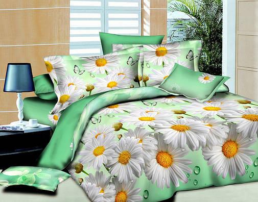 Двуспальный комплект постельного белья евро 200*220 хлопок  (4390) TM KRISPOL Украина, фото 2