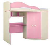 """Кровать 2 этаж + шкаф - детская """"Радуга"""""""