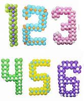 Цифры из воздушных шаров бескаркасные