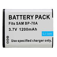 Аккумулятор BP70A (BP-70A, BP-70EP, EA-BP70A, EA-BP70A, SLB-70A) для камер SAMSUNG - 1200 ma