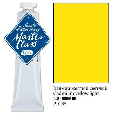 Краска масляная, Кадмий желтый светлый, 46мл., Мастер Класс, фото 2