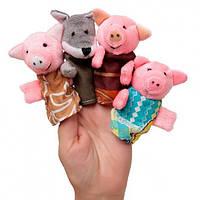 Пальчиковый кукольный театр Три Поросенка 4 персонажа В028
