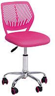 Детское компьютерное кресло JONNY pink высота кресла регулируется, компьютерное кресло на колесиках