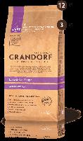 Корм сухой для взрослых собак крупных пород пород с ягнёнком и рисом Грандорф 25\13 3 кг