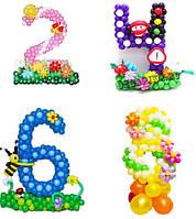 Цифры из воздушных шаров каркасные
