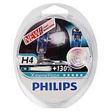 Лампа галогенная 12V H4 P43t 60/55W X-TREME VISION+130% PHILIPS, фото 5