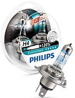 Лампа галогенная 12V H4 P43t 60/55W X-TREME VISION+130%PHILIPS