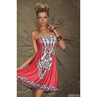 РАСПРОДАЖА! Летнее кораловое платье
