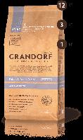 Корм сухой для взрослых собак всех пород с мясом кролика и бататом Грандорф 25\14 3 кг