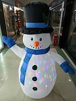 Надувной снеговик с подсветкой 1,8 м