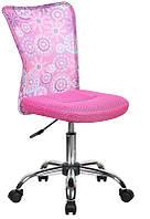 Детское компьютерное кресло Blossom pink, высота сидения регулируется с помощью газового амортизатора