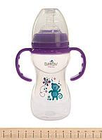 Антиколиковая бутылочка для кормления малыша bayby bfb6107 240ml 6м+ фиолетовая