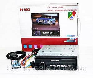 1din Магнитола Pioneer PI-903 GPS+TV c USB, AUX, FM Лучшая цена! Качество на высоте
