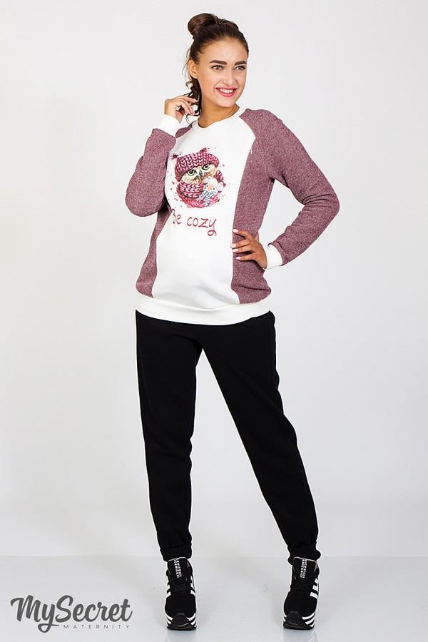 066462a025d8 Теплые спортивные брюки для беременных Soho warm, черные купить ...