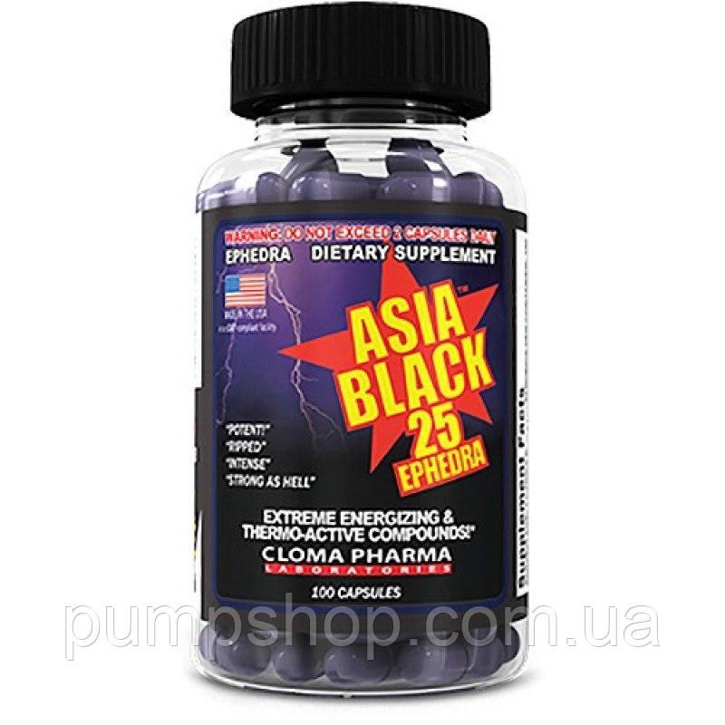 Жиросжигатель Cloma Pharma Asia Black 25 Ephedra 100 капс.