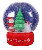 Надувной шар со снегом 1 метр