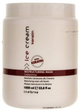Восстанавливающая маска с кератином Inebrya Ice Cream Keratin Restructuring Mask, 1000 мл.