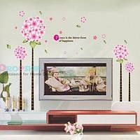 РАСПРОДАЖА! Виниловая наклейка - Розовые цветочки